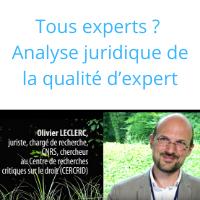 Tous experts ? Analyse juridique de la qualité d'expert (3 et fin)