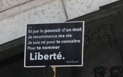 Tribune : «  Je suis né pour te connaître, pour te nommer : liberté » *