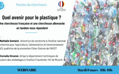 [Webinaire] Quel avenir pour le plastique ? Une chercheuse française et une chercheuse allemande en tandem nous répondent