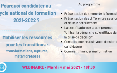 Webinaire : pourquoi candidater au cycle national 2021-2022?
